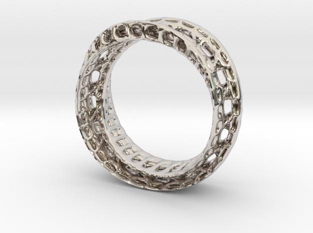 Twistedbond ring 21.2mm 3d printed