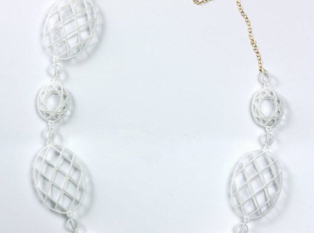 Faceted Ovals Necklace 3d printed