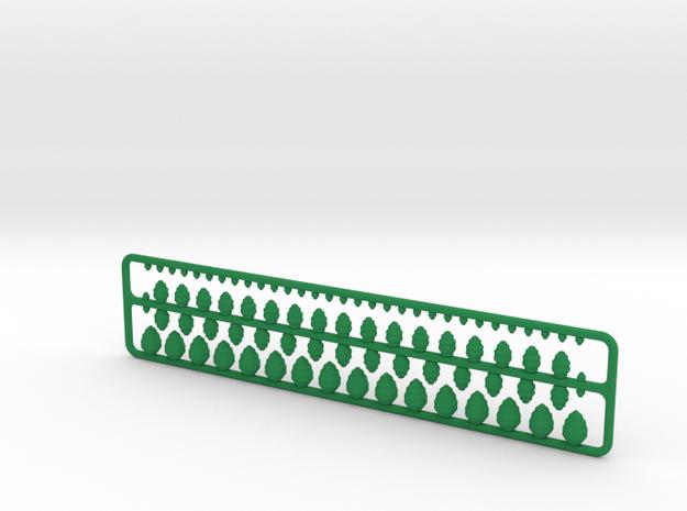 Philadelphia Tree Pack (1:3048) in Green Processed Versatile Plastic