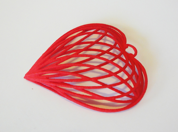 Woven Heart 3d printed