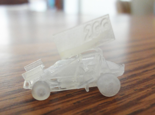 Micro Sprint Car 3d printed Actual car has no number on wing