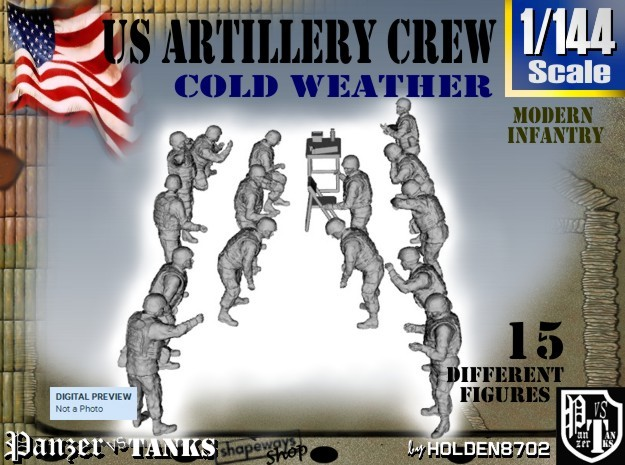 1-144 US Artillery Crew Cold Weather
