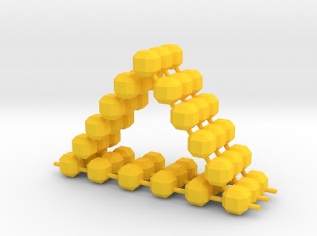 Triangulum in Yellow Processed Versatile Plastic