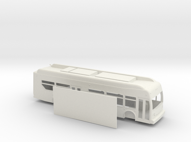 HO scale new flyer xcelsior hybrid bus in White Natural Versatile Plastic