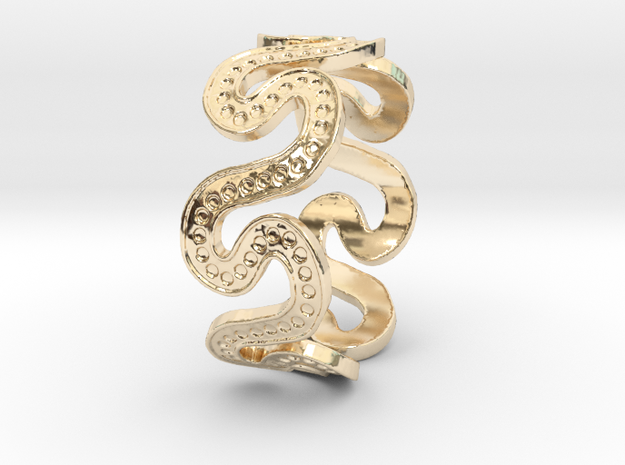 Snake7 Ring Size 12 in 14K Gold