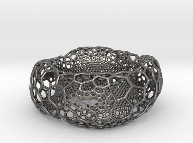 Frohr Design Voronoi Heavy Bracelet in Polished Nickel Steel