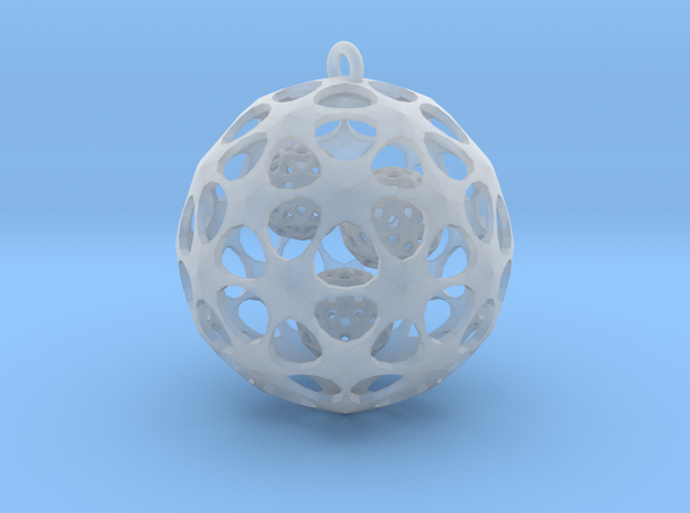 Hadron Ball - 3cm in Smooth Fine Detail Plastic
