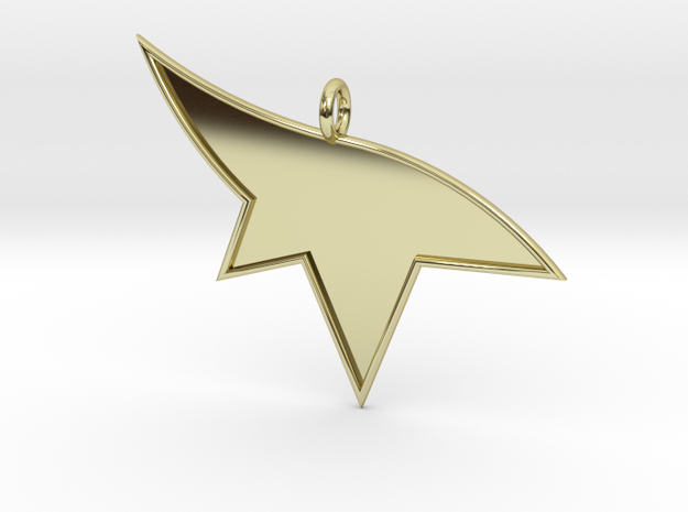 Mirrors Edge Pendant in 18k Gold Plated Brass