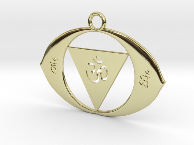 AJNA Chakra in 18k Gold Plated Brass