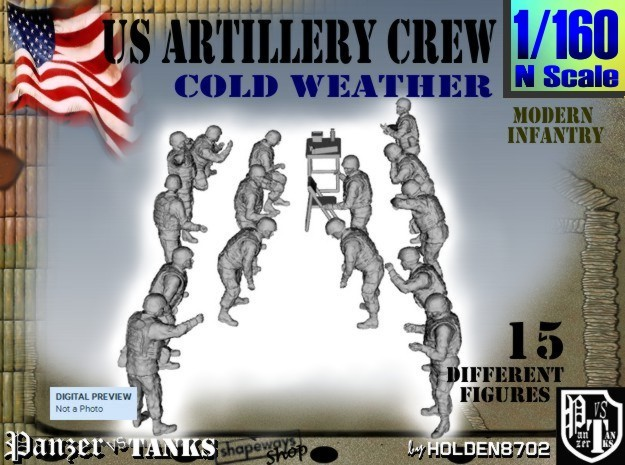 1-160 US Artillery Crew Cold Weather