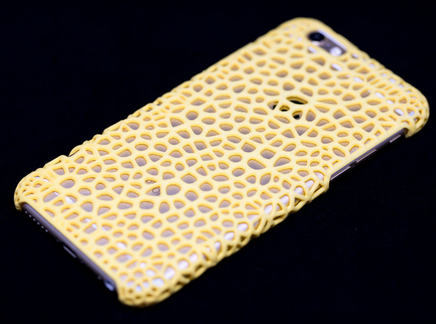 iPhone6 Case Vorono1 (Extreme Voronoi Edition) in Yellow Strong & Flexible Polished