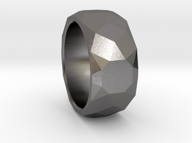 CODE: WP27 - RING SIZE 7 in Polished Nickel Steel