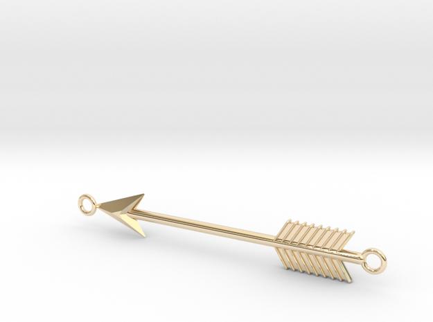Arrow Pendant in 14K Yellow Gold