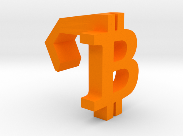 iMac Camera Cover - Bitcoin Logo in Orange Strong & Flexible Polished