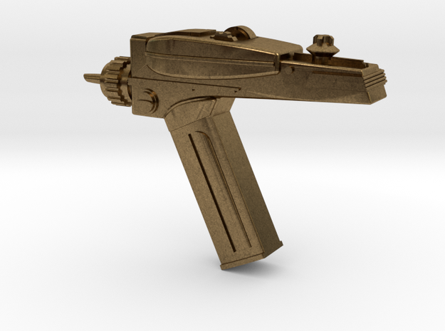 Star Trek Phaser Keychain in Natural Bronze