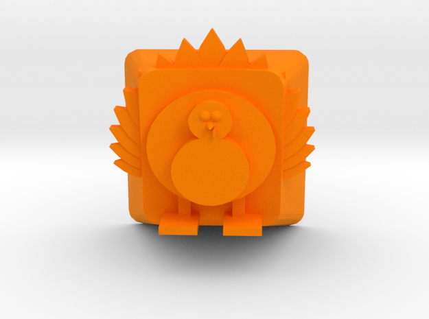 Turkey Keycap - Cherry MX in Orange Processed Versatile Plastic