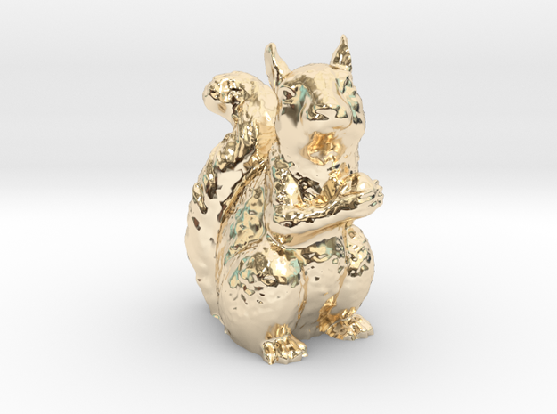 Guardian Squirrel in 14K Gold