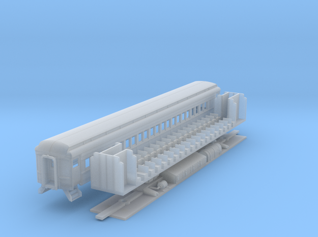 N-scale (1/160) PRR P70R Passenger Car  in Frosted Ultra Detail
