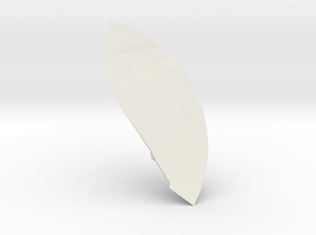 """Anel """"Drop"""" -core- in White Natural Versatile Plastic"""