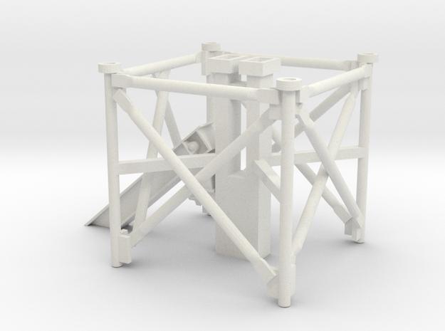 1/64 Grain Leg Bottom Section in White Natural Versatile Plastic