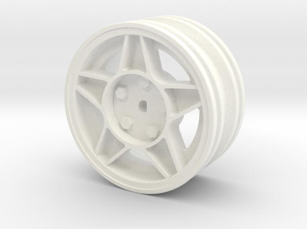 Ats Rallye Rim in White Processed Versatile Plastic