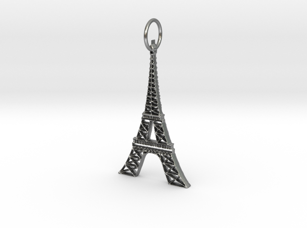 Eiffel Tower Earring Ornament in Natural Silver