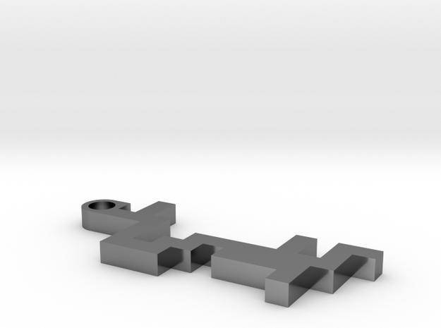 Maze Pendant 2 in Premium Silver