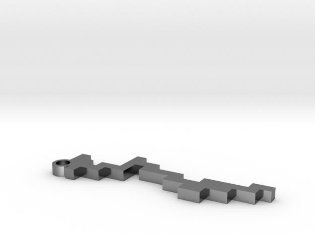 Maze Pendant 4 in Premium Silver