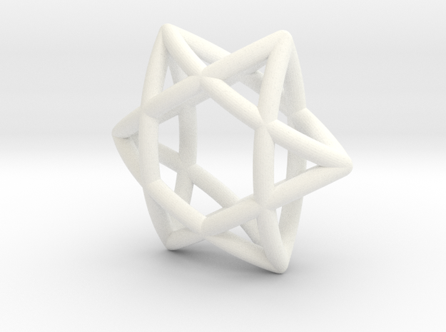 Star 3d Assy Final Sw0002 in White Strong & Flexible Polished