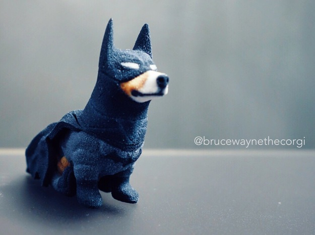 Bruce Wayne The Corgi Knight in Coated Full Color Sandstone
