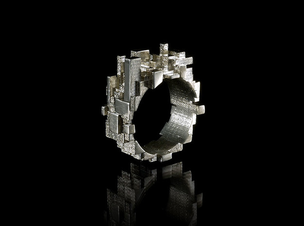 Metropolis Ring size 6us / 52mm 3d printed