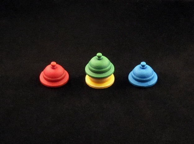 Call Bell tokens (4 pcs) in White Processed Versatile Plastic