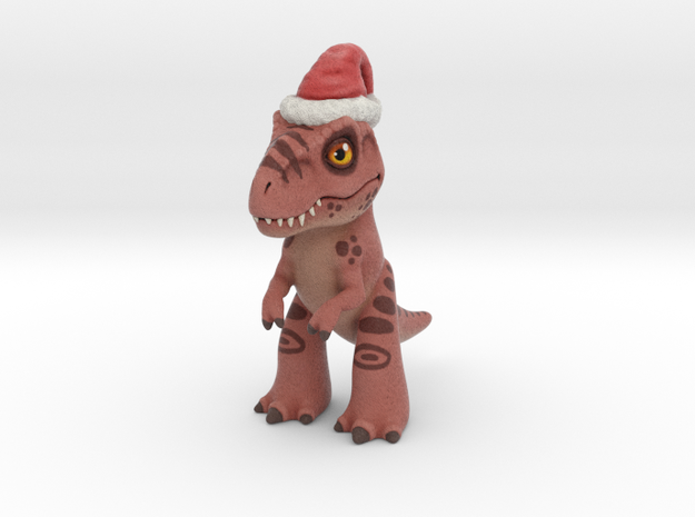 T. Rex Christmas in Full Color Sandstone
