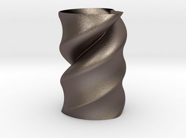 Twisted Heart Vase  in Stainless Steel