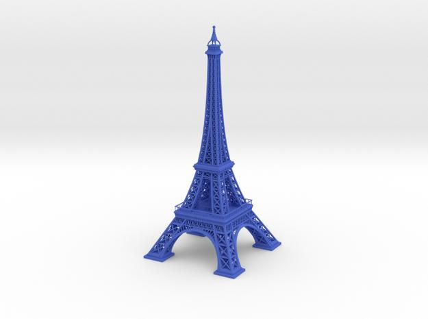 Eiffel Tower in Blue Processed Versatile Plastic