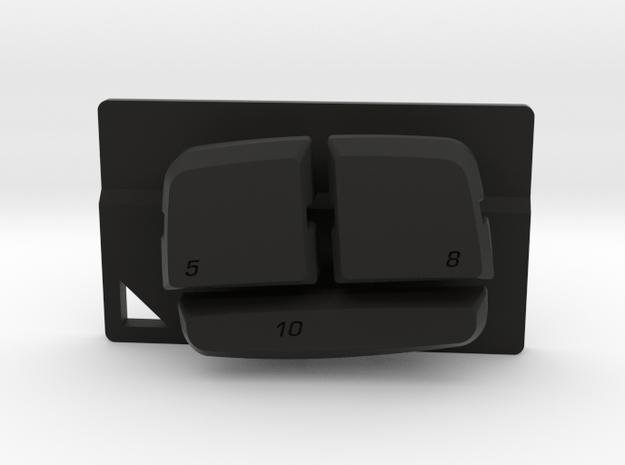 Nyth Quattro Top Buttons in Black Natural Versatile Plastic