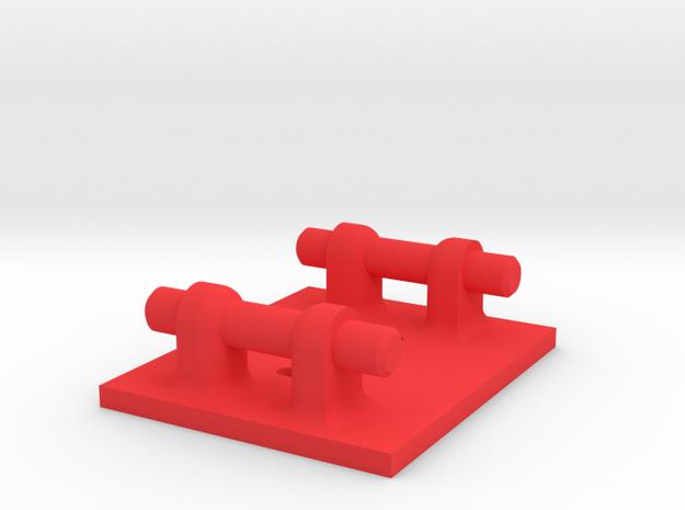 Mobius Case - Vibration Damping Base in Red Processed Versatile Plastic