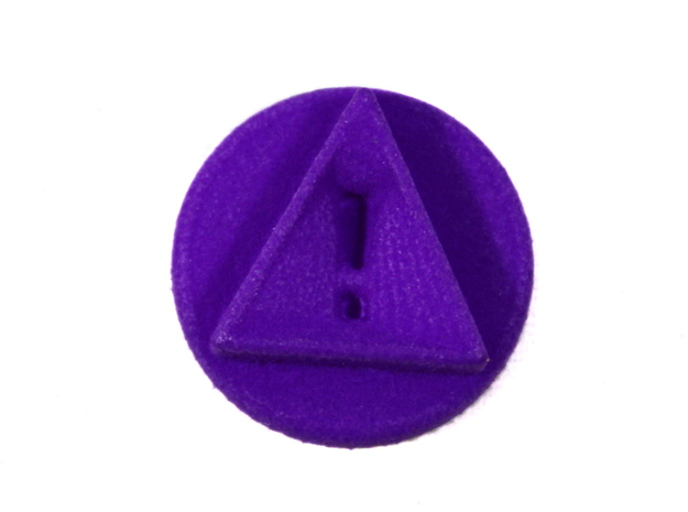 Reminder Token With Exclamation, Pandemic Legacy in Purple Processed Versatile Plastic