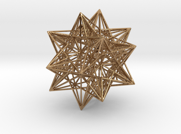 Icosahedron Stellation 3 in Polished Brass