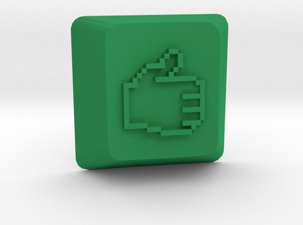 Thumbs Up Keycap - Cherry Mx  in Green Processed Versatile Plastic