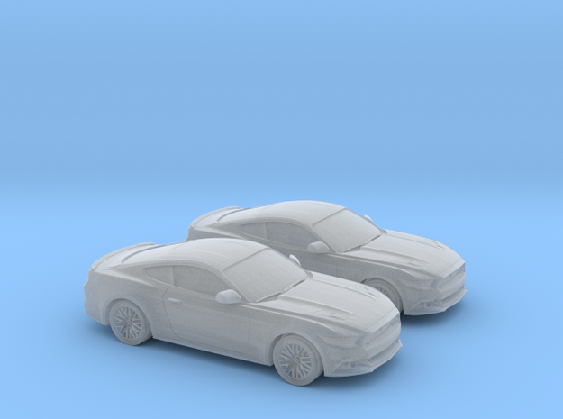 1/148 2X 2015 Ford Mustang GT in Smooth Fine Detail Plastic