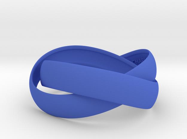 Double Swing Bracelet 15 X 60 in Blue Processed Versatile Plastic