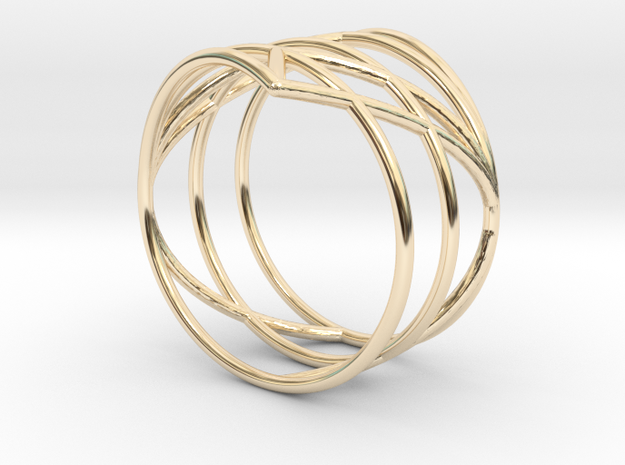 23 Ring 17,20mm in 14K Yellow Gold