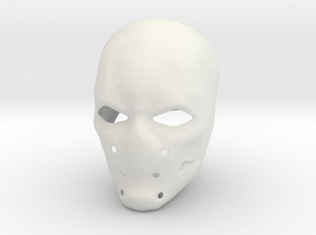 Azrael helmet from Batman: Arkham Knight in White Strong & Flexible
