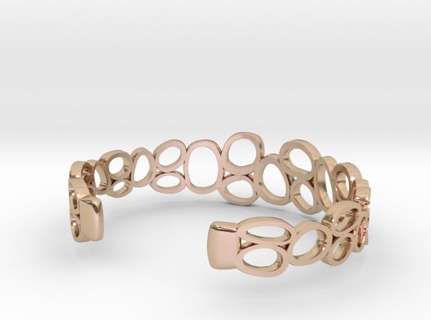 Rings and Things Bracelet 3d printed