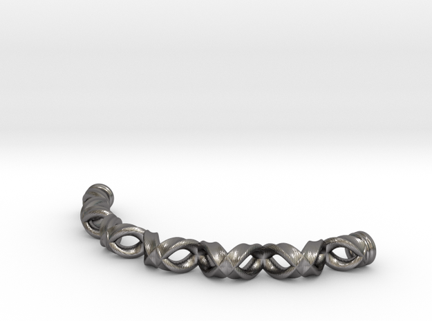 Double Helix Bracelet in Polished Nickel Steel