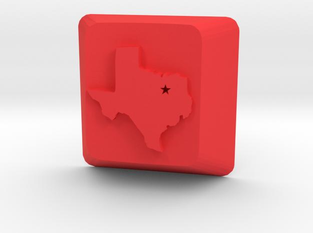 Dallas Texas Keycap Cherry Mx Switch in Red Processed Versatile Plastic