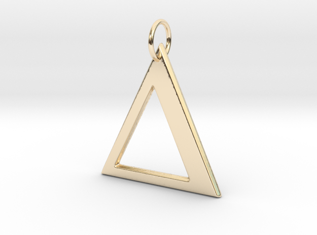 Delta Pendant in 14K Yellow Gold