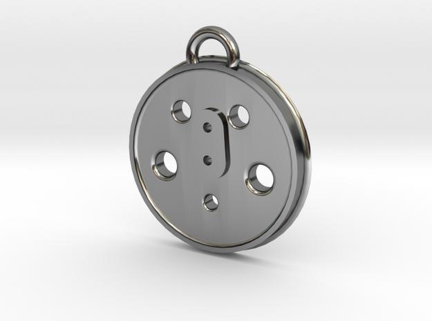 Dreyfuss Hudson Steam Locomotive Driver Necklace  in Premium Silver