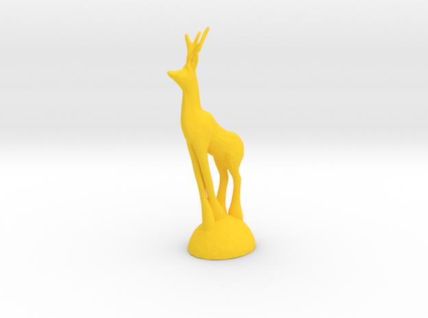 Christmas Deer in Yellow Processed Versatile Plastic